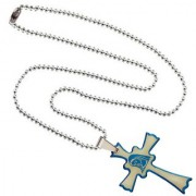 Men Style New Design Stylish Jesus Cross Plated SPn003019 Blue and Silver Stainless Steel Cross Necklace Pendant For Men and Women