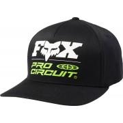 FOX Pro Circuit Flexfit Cap S M Svart