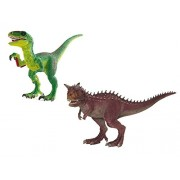 Schleich North America Carnotaurus & Velociraptor Set