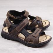 Rieker Brązowe sandały męskie komfortowe Rieker 26757-25 - brązowy
