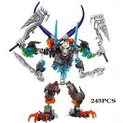 Generic Bionicle Mask Maker vs. Skull Grinder Biochemical Warrior Building Block Set Robot Model Bricks Compatible with 70795 Kids Toys 6019