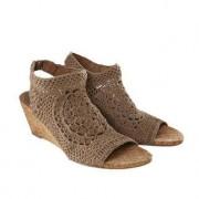 Nina Originals Crochet Wedges or Flats, 3.5 - Natural - Wedges