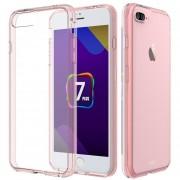 Funda Case Para Iphone 8 / Iphone 7 De Acrilico Transparente Con Contorno Suave - Rosa