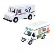 Postal Service Kid's Toy Truck (2 Trucks(USPS-Ice Cream))