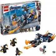 Set LEGO Marvel Capitán América: Ataque de Los Outriders y Cap Snowman Funko Pop