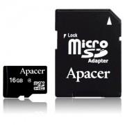 Micro SD Card, 16GB, Apacer MICRO, Class10, 1xAdapter (AP16GMCSH10U1-R)