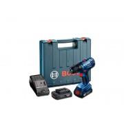 Masina de insurubat cu percutie cu acumulatori Bosch GSB 180-LI, 2 Acu x 1.5 Ah
