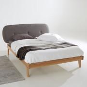 LA REDOUTE INTERIEURS Bett Anda mit Lattenrost, Esche massiv und Stoff