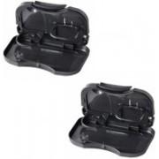 AutoSun Foldable Car Dining Meal Drink Tray Set Of 2 Mahindra Verito Vibe Cs(Black)