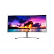 """Monitor LG 37.5"""", 38WK95C-W, 3840x1600, LCD LED, IPS, zakrivljen, 5ms, 178/178o, HDMI 2x, DP, Lift, Zvučnici, bijela, Freesync, 36mj"""