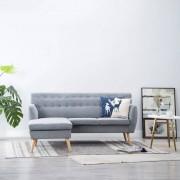 vidaXL Ъглов диван, тапицерия от текстил, 171,5x138x81,5 см, светлосив