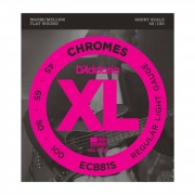 D'Addario ECB81S 45-100 Chromes Flatwound acero inoxidable