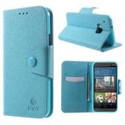 B2Ctelecom HTC One M9 Hoesje Blauw met Opbergvakjes