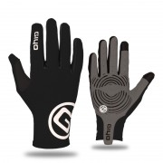 GIYO-S-02-L Touch Screen Cycling Gloves Breathable Windproof Full Finger Gloves - Black / Size: L