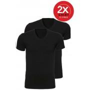 Ten Cate 2-Pack Basic T-shirts V-Hals Zwart-M