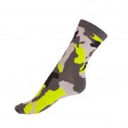 Styx Ponožky Styx crazy fosforově zelený maskáč (H331) XL
