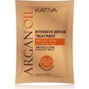 Masca de par Kativa Tratament Intensiv Reparatoare cu Ulei de Argan-35 gr