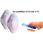 Astralpool 2db LumiPlus PAR56 1.11 RGB LED izzó medencébe, távirányítóval 35W 1100 lumen 59127