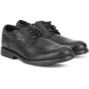 Clarks HoptonTime GTX Black Leather Lace Up For Men(Black)
