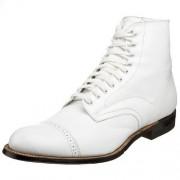 Stacy Adams Men's Madison Cap-Toe Boot,White,8.5 D
