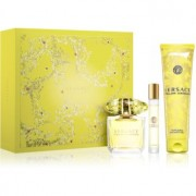 Versace Yellow Diamond coffret XIV. Eau de Toilette 90 ml + gel de duche 150 ml + eau de toilette roll-on 10 ml