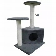 vidaXL Arranhador para Gatos 70 cm / Cinza de pelúcia