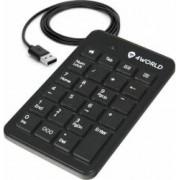 Tastatura numerica 4World USB Super Slim Negru