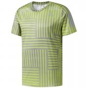 1109721b9e5 adidas Men's Response Running Printed T-Shirt - Yellow/Grey - L - Yellow