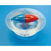 Magnetyczny kompas w misce