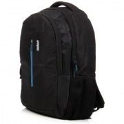 LeeRooy canvas black 20ltr laptop bag back pack for boys and girls