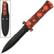 Dague Squelette 24,5cm Zombie - Full tang acier