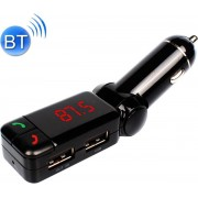 BC-06 Bluetooth Car Kit FM-zender Auto MP3-speler met LED-display 2 USB-oplader en handsfree-functie (zwart)