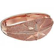 Michael Kors Starburst Pave Hinge Bracelet Rose Gold
