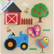 Puzzle din lemn Baby Mix Ferma