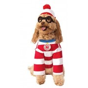 Rubie's Disfraz de Waldo para Mascotas, tamaño Mediano, Modelo 580696_M de