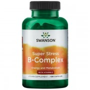 Swanson Super Stress B Complex s Vitaminem C 100 kapslí
