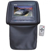 Pyle PL72HRBK Adjustable Headrests w/ Built-In 7'' TFT/LCD Monitor W/IR Transmitter & Cover (Black)