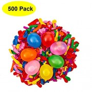 Mydio 500 Pack Water Balloons in 7 Vibrant Colors Water Sports Water Balloon Create Your Own Balloon Battle