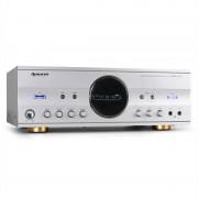 auna AMP-218 5.1-Receiver 600W Design-Blende silber