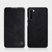 NILLKIN Qin Series Card Holder Leather Mobile Phone Case for OnePlus Nord - Black