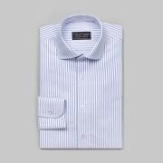 Tailor Store Vit/Blå-randig Oxfordskjorta