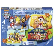 Puzzle Paw Patrol, 4/6/8/10 Piese