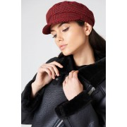 NA-KD Accessories Houndstooth Cap - Hats & Gloves - Red,Multicolor
