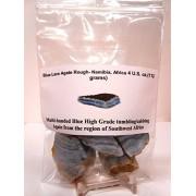 "Rock Tumbler Gem Refill Kit - Namibia, Africa ""Blue Lace"" Agate Rough, Bold Banding, 4 oz"