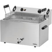 Casselin Friteuse à Beignets Electrique Zone Froide 16 litres 400V 9kW 540x450x(h)370mm
