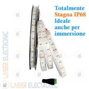 Striscia Bianco Freddo 6500K LED SMD5630 Stagna da Immersione IP68 5MT Alta Luminosità 50W