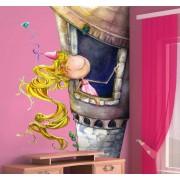 TenStickers Sticker kinderen Rapunzel
