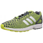 adidas Originals Men's Zx Flux Techfit Yellow, White and Grey Running Shoes - 9 UK
