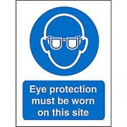 Unbranded Mandatory Sign Eye Protection Plastic 30 x 20 cm