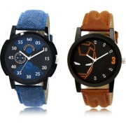 The Shopoholic Black Blue Combo New Stylist Latest Black And Blue Dial Analog Watch For Boys Women Watches In